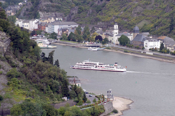 Rhine River as seen from St. Goar, Germany