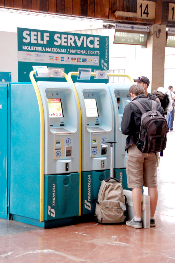 Train ticket machines, Florence, Italy