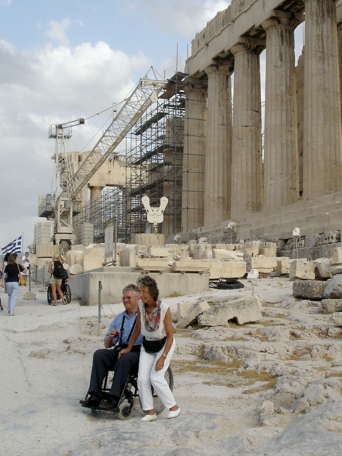Acropolis restoration, Athens, Greece