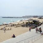 Beach and Promenade, Barcelona, Spain