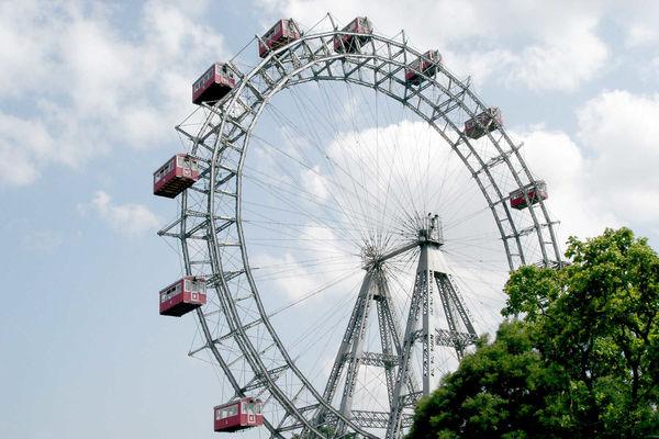 Riesenrad Ferris wheel in Prater Park, Vienna, Austria