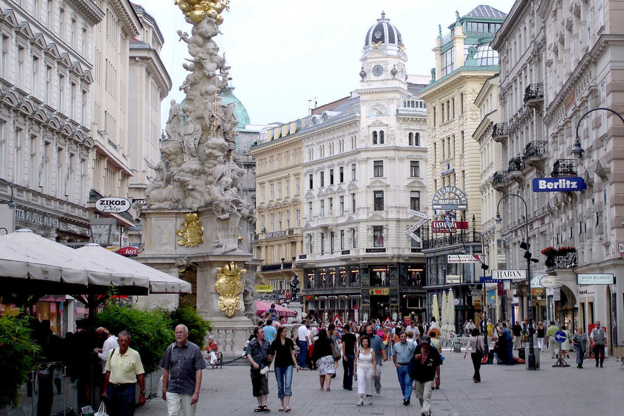 Graben and plague monument, Vienna, Austria