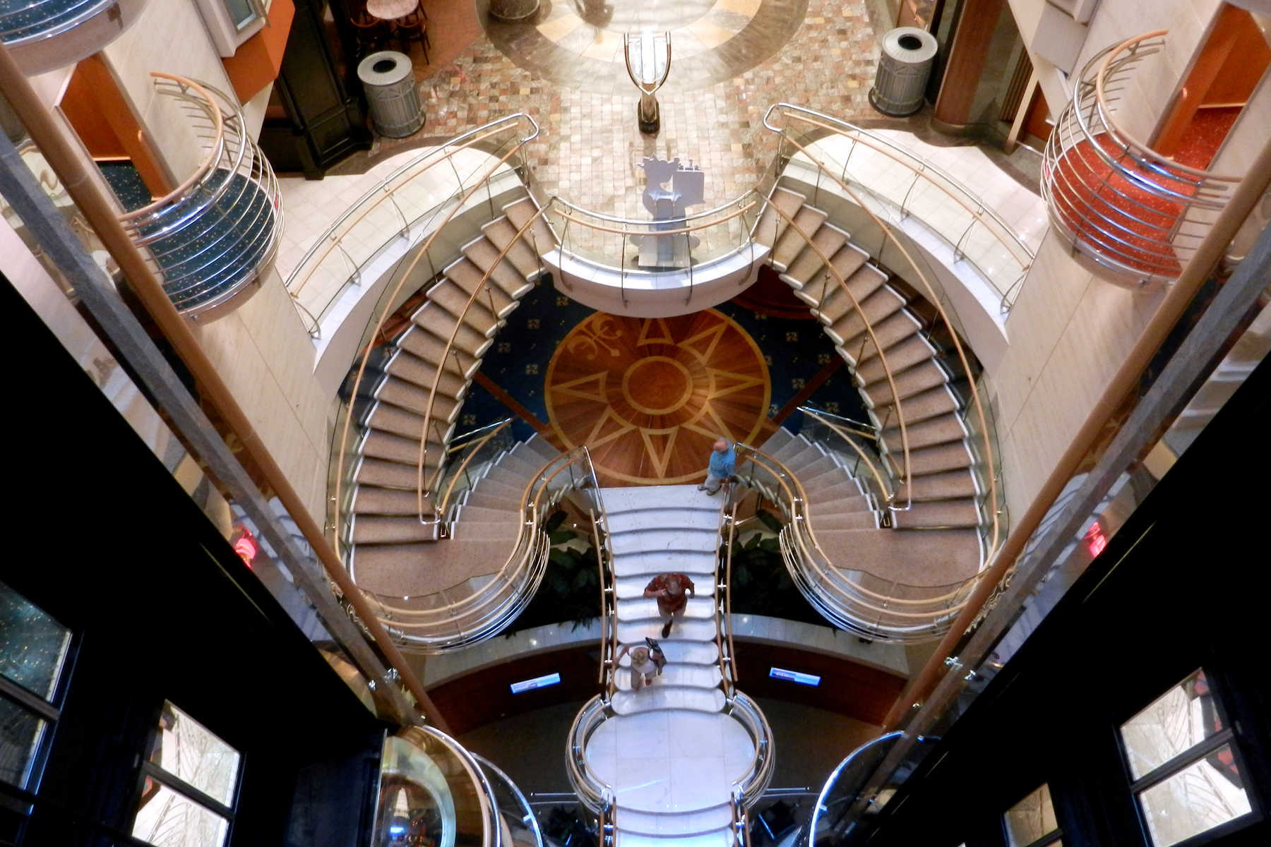 Interior Stairway, Cruise Ship