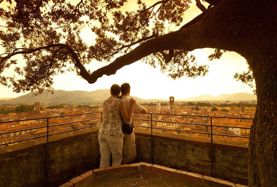 Atop Torre Guinigi, Lucca, Italy