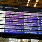 Train Station Departures Board, Munich, Bavaria, Germany