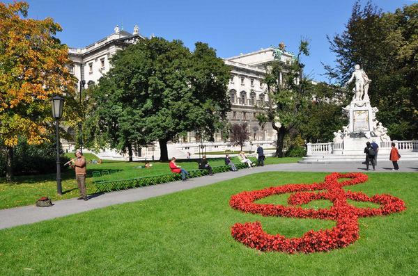 Mozart statue, Burggarten, Vienna, Austria