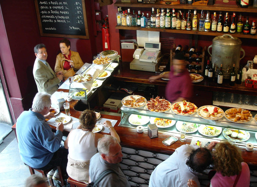 Tapas bar, Barcelona, Spain