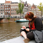 Woman with Journal, Amsterdam, Netherlands