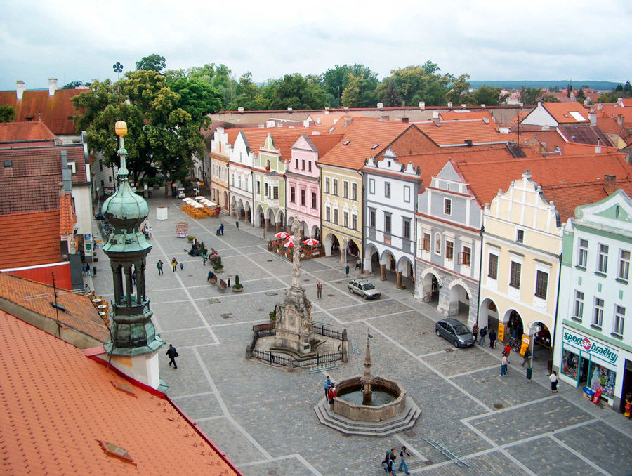 Masaryk Square, Třeboň, Czech Republic