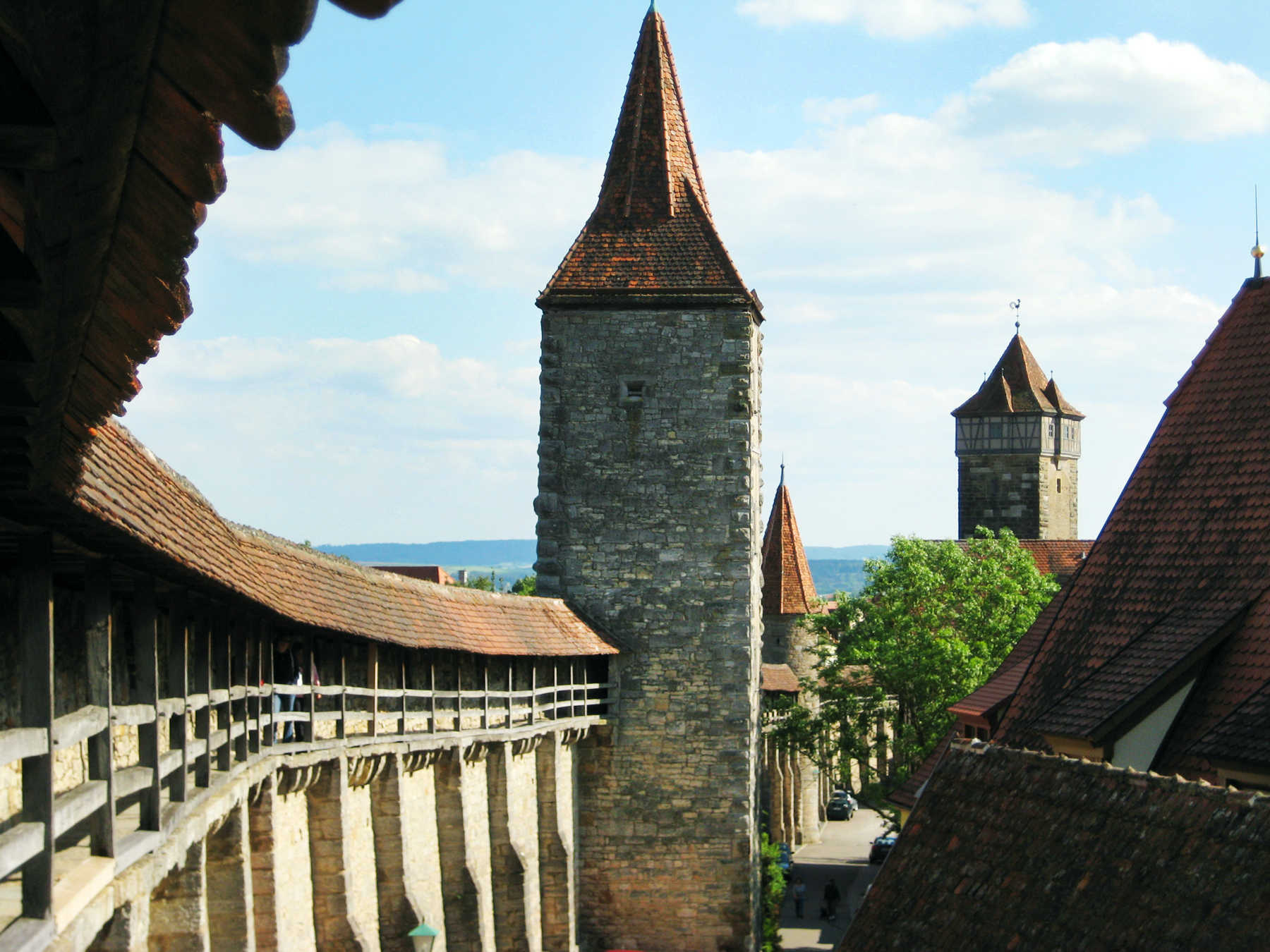 City Wall, Rothenburg ob der tauber, Germany