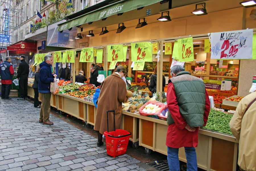 Rue Cler market, Paris, France