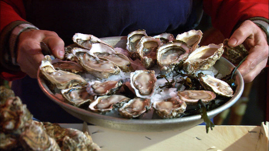 Oyster platter, Paris, France