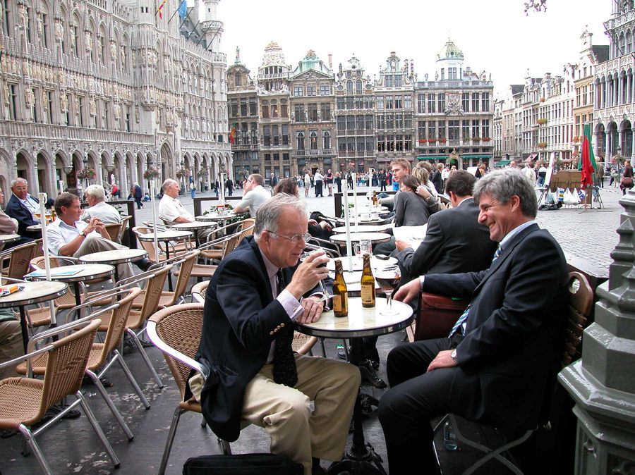 Café on Grand Place / Grote Markt, Brussels, Belgium