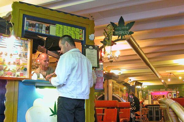 Coffeeshop marijuana counter, Amsterdam, Netherlands