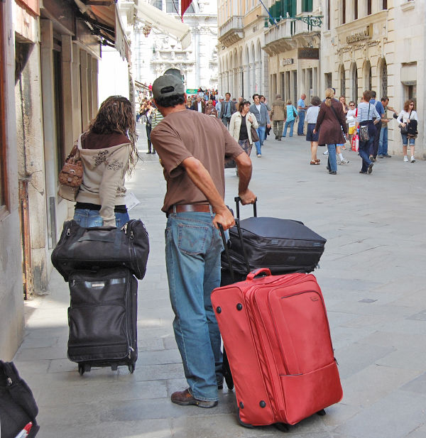 Too much luggage marks you as a typical tourist. It slams the Back Door  shut. 7c61268c9415a