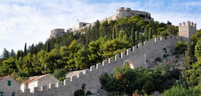 Town walls and fortress, Hvar, Croatia