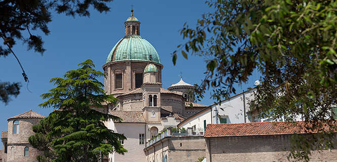 Cathedral cupola and Chapel of Sant'Andrea, Ravenna, Italy