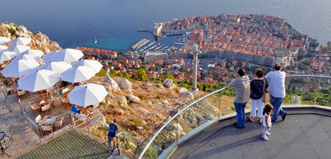 Dubrovnik as seen from Mount Srđ, Croatia