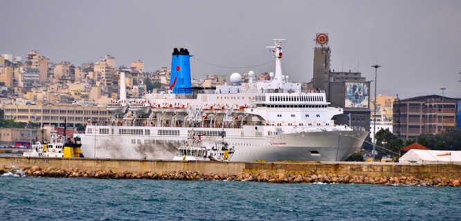 Port of Piraeus near Athens, Greece