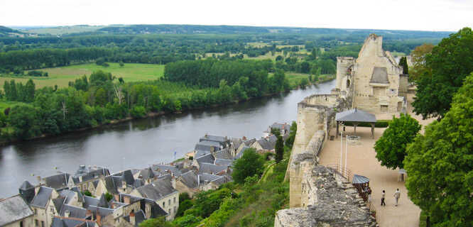 Forteresse Royale de Chinon and Vienne River, Chinon, France