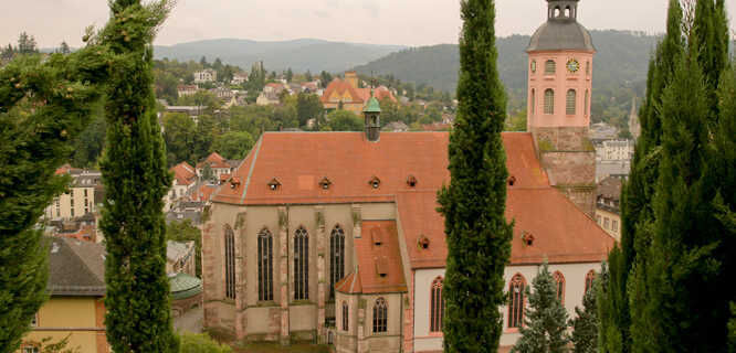 Catholic church, Baden-Baden, Germany