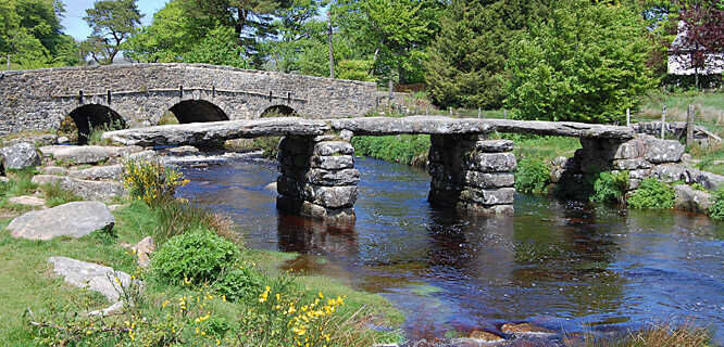 Clapper bridge, Postbridge, England