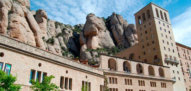 Abbey at Montserrat, Spain