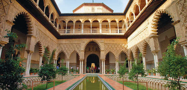 Courtyard of the Maidens, Alcázar, Sevilla, Spain