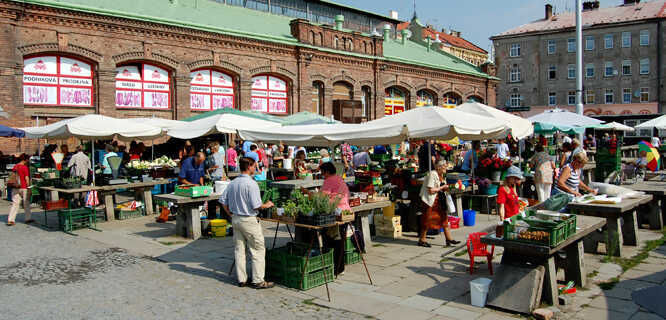 Market in Olomouc, Czech Republic