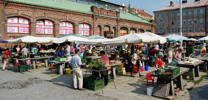 Market in Olomouc, Czech Republic