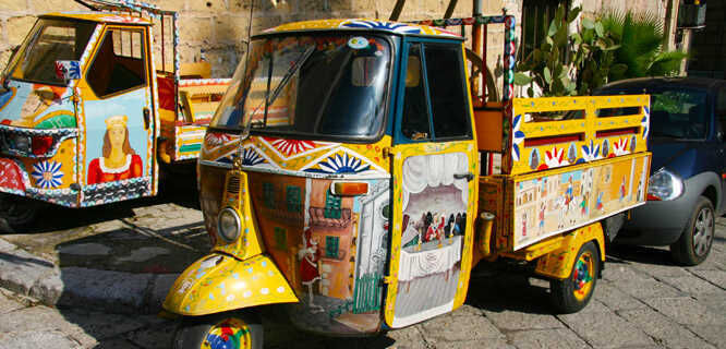 Painted trucks, Palermo, Sicily, Italy