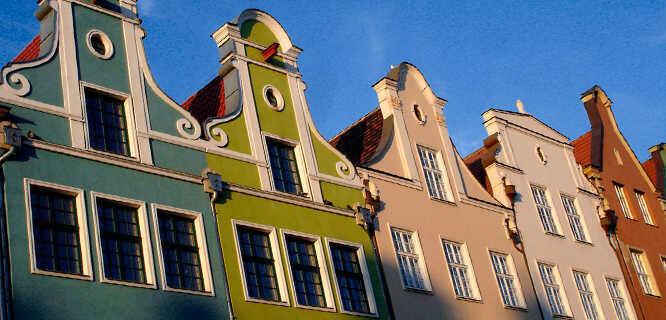 Gables along ulica Długa, Gdańsk, Poland