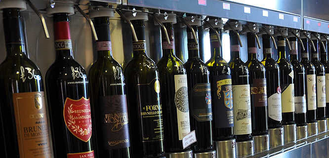 Wine selection, Montalcino, Italy