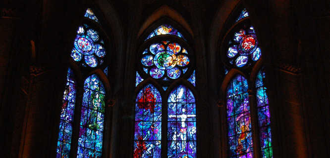 Stained-glass window, Reims Cathedral, Reims, France