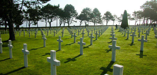 American Cemetery at Omaha Beach, Normandy, France