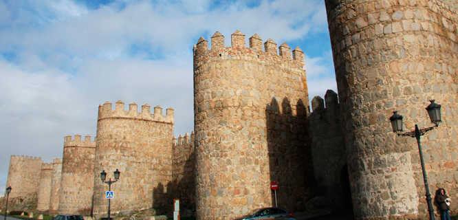 Medieval walls, Ávila, Spain