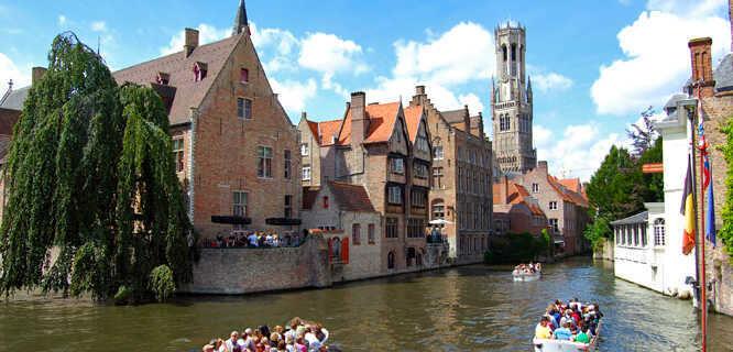 View from Rozenhoedkaai, Bruges, Belgium