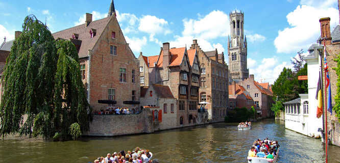 View from Rozenhoedkaai, Bruges, Belgium