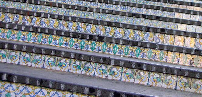Ceramic steps of Santa Maria del Monte, Caltagirone, Sicily, Italy