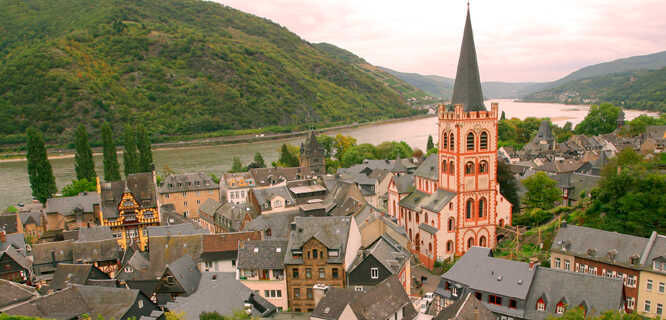 Rhine Valley and Bacharach, Germany