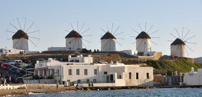 Windmills, Mykonos, Greece