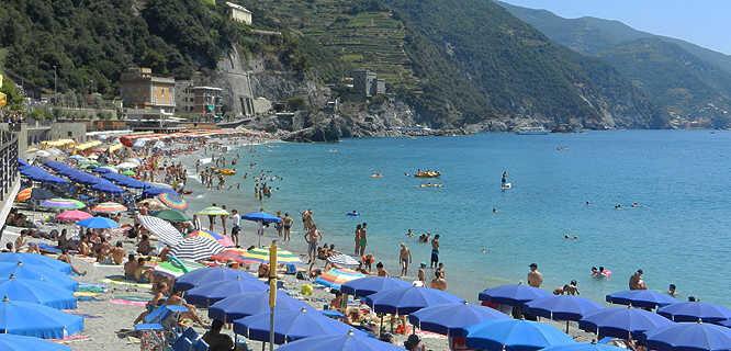 Beach at Monterosso al Mare (Cinque Terre), Italy
