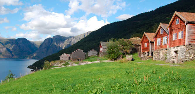 Otternes farm, Aurlandsfjord (Sognefjord), Norway