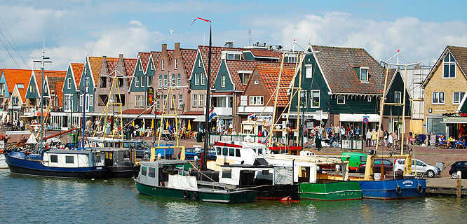 Harbor in Volendam, Netherlands