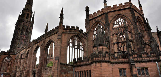 Coventry Cathedral ruins, Coventry, England