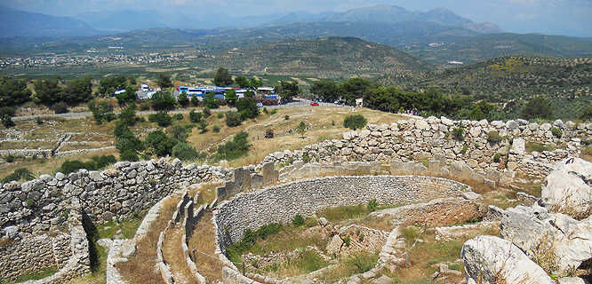 Archaeological site, Mycenae, Greece