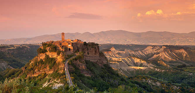 Civita di Bagnoregio at sunset, Italy