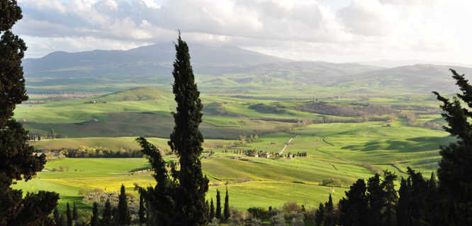 Tuscan countryside near Pienza, Italy
