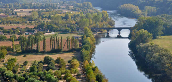 Dordogne River Valley as seen from Beynac, France