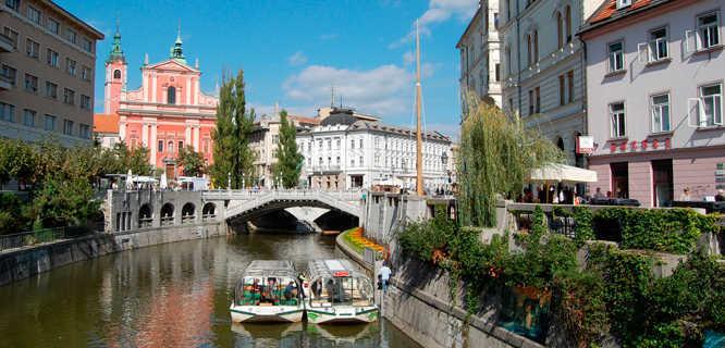 Ljubljanica River, Ljubljana, Slovenia